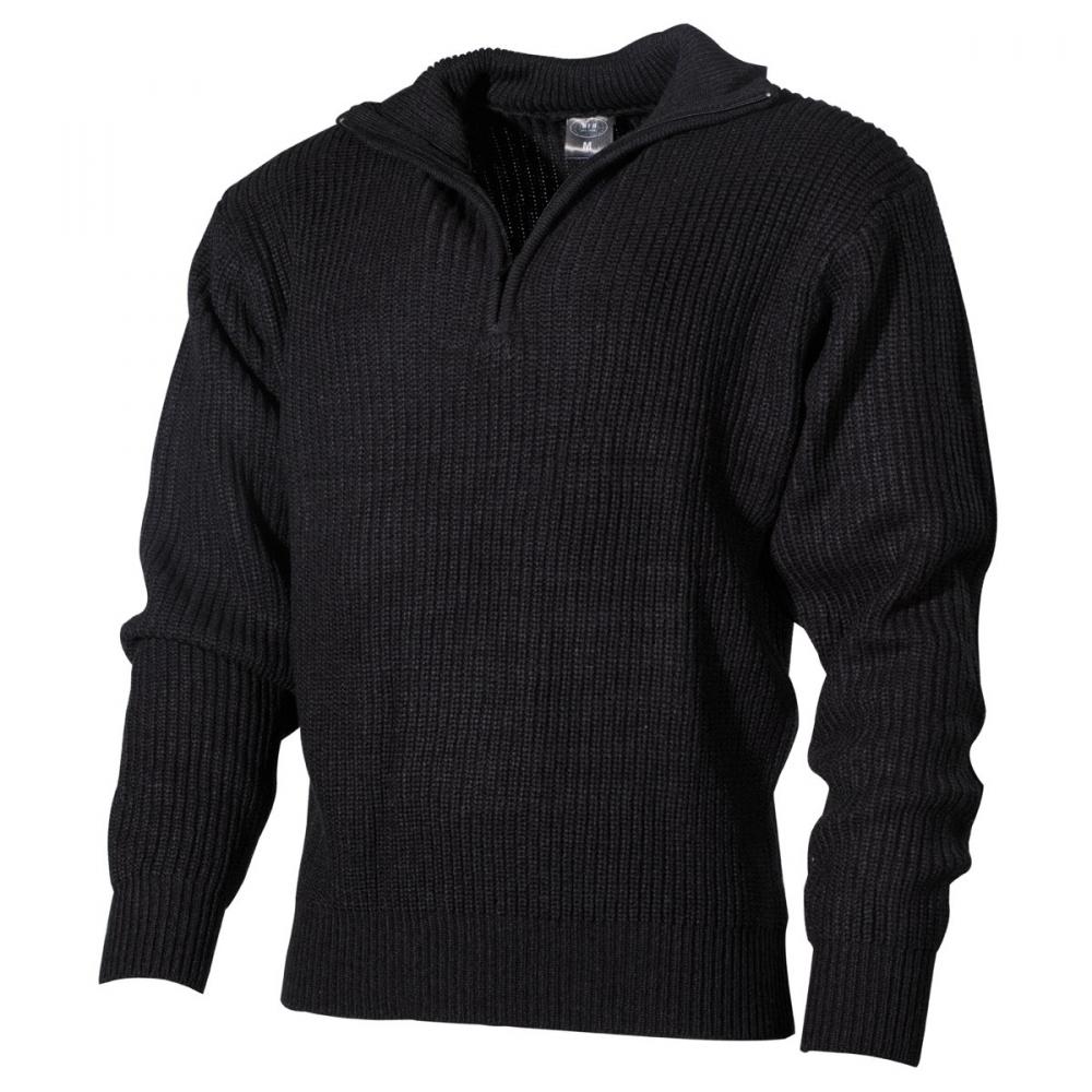 Navy Pullover Svart